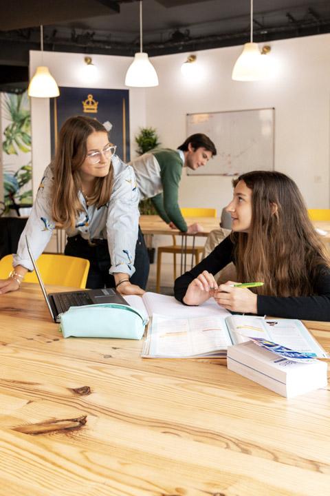 Élève et son professeur travaillant un devoir en cours particuliers